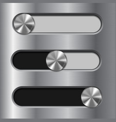Slider toggle switch interface button vector