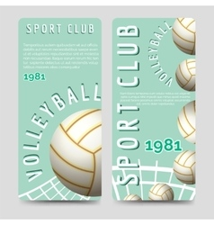 Volleyball sport club brochure template vector