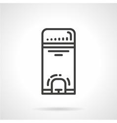 Wastebasket black line icon vector image