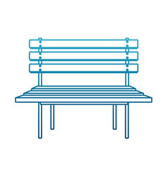 wooden park chair vector image vector image