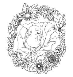 zentangl the little rabbit vector image