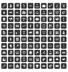100 partnership icons set black vector