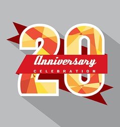 20 Years Anniversary Celebration Design vector image