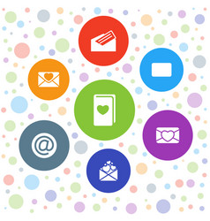 7 email icons vector