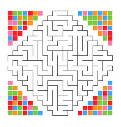 Abstract colored complex isolated labyrinth black vector