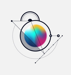 abstract colorful gradient holographic style vector image