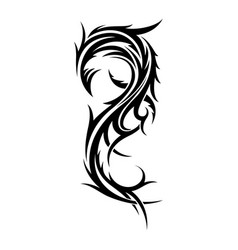 abstract tribal tattoo design template vector image