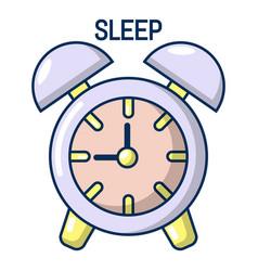 alarm clock icon cartoon style vector image vector image