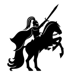 Ancient warrior on horseback vector
