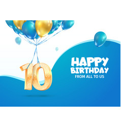 anniversary 10 th years birthday vector image