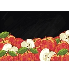Apple fruit composition on chalkboard vector