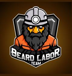Beard labor vector