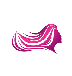 Beauty woman hair vector