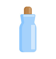 blue bottle medical in flat design isolated vector image