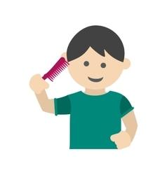 Brushing Hair vector