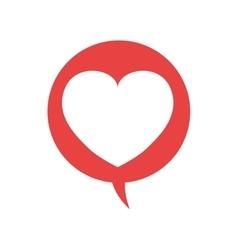 Bubble and heart shape icon Love design vector