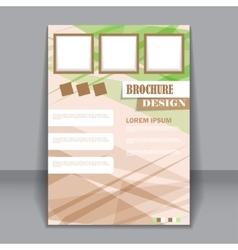 Business brochure flyer for design vector image