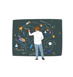 Business strategy data analysis creative idea vector