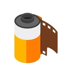 Camera film roll icon isometric 3d style vector