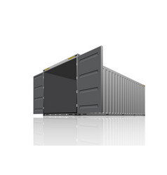 cargo container design vector image