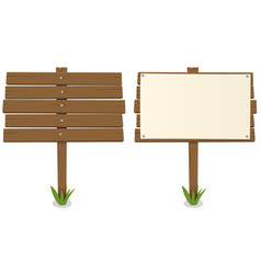 Cartoon wood board vector