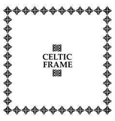 Celtic knot square frame vector image