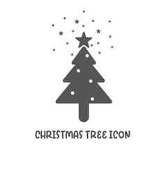 Christmas tree icon simple flat style vector