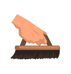 Cleaning house concept element with hand holding vector