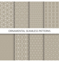 collection retro ornamental patterns vector image