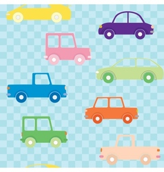 Colorful cars seamless pattern vector