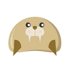 cute seal character animal vector image