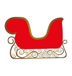 Embellished sleigh icon image vector