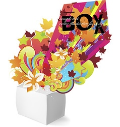Exploding Box Design vector