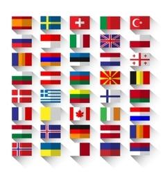 Flags flat vector