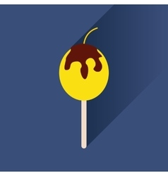 Flat icon with long shadow baked apple vector