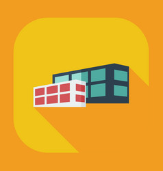 Flat modern design with shadow icons building vector