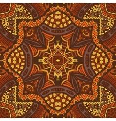 Folk indian geometric ornamental textile pattern vector