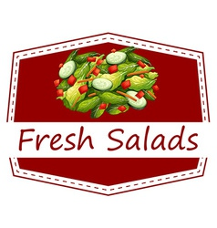 Fresh salads vector