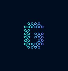 g circuit technology letter logo icon design vector image