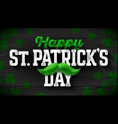 Happy saint patricks day feast saint patrick vector