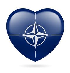 Heart icon nato vector
