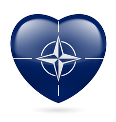 Heart icon of NATO vector