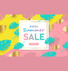 hot summer sale template banner trendy summer vector image