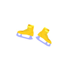 Ice-skates with snowflake print icon vector