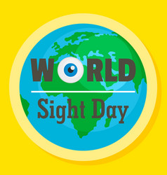 international sight day concept background flat vector image