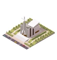 Isometric modern church vector
