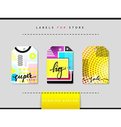 Label set for clothing sales Abstract modern vector image