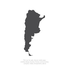 Map argentina isolated black vector