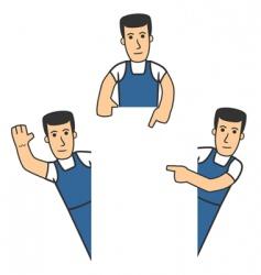 mechanic character vector image