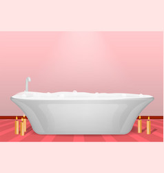 Modern bathtub concept background realistic style vector